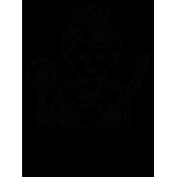 Sticker Reine du Monde avec...