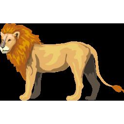 Sticker Lion debout