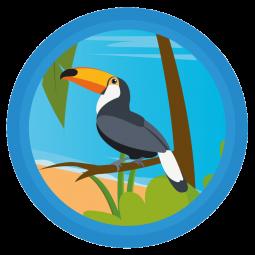 Sticker Toucan dans rond