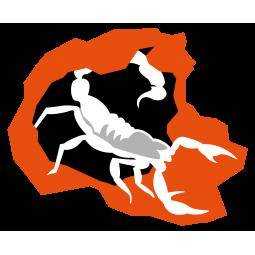 Sticker Scorpion blanc...