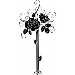 Sticker Vase aux deux roses
