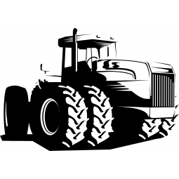 Sticker Tracteur 6 roues