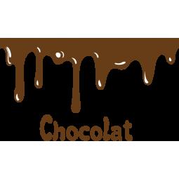 Sticker Chocolat coulant
