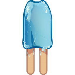 Sticker Glace bleue double