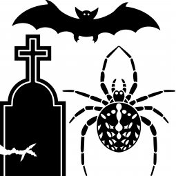 Stickers Tombe, araignée et...