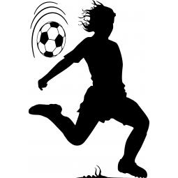 Sticker Footballeur qui jongle