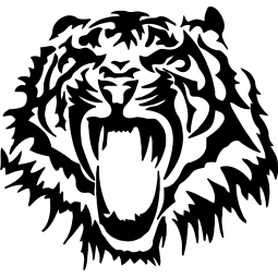 Sticker Tigre rugissant