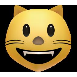 Sticker Smiley Chat Sourire