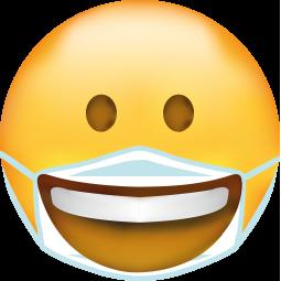 Sticker Smiley masque souriant