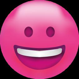 Sticker Smiley Rose