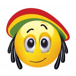 Sticker Smiley Rasta