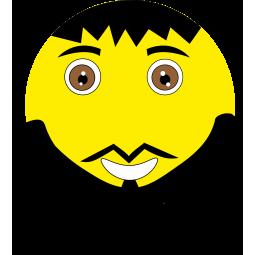 Sticker Smiley Barbu