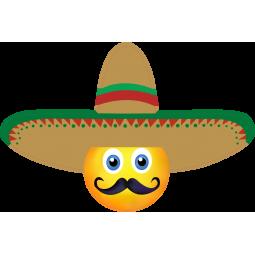 Sticker Smiley Mexicain