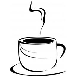 Sticker Tasse à café ronde