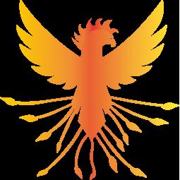 Sticker Phœnix flamboyant
