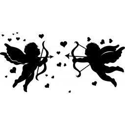 Stickers Cupidons et coeurs