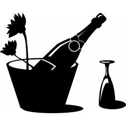 Sticker Seau à champagne
