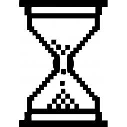 Sticker Sablier pixel