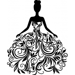Sticker Robe de mariée...