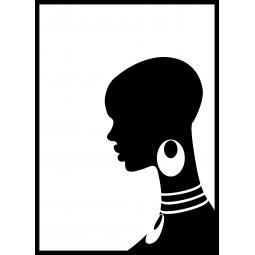 Sticker Profil d'une femme...