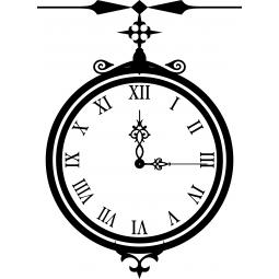 Sticker Horloge sur potence
