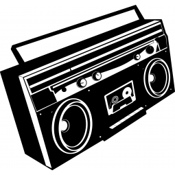 Sticker radio cassette