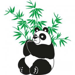 Sticker Panda dans les bambous