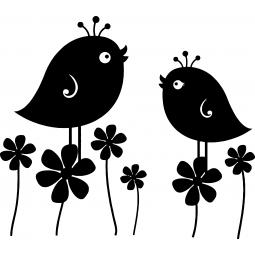 Sticker Maman oiseau et son...
