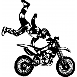 Sticker motocross Heart...