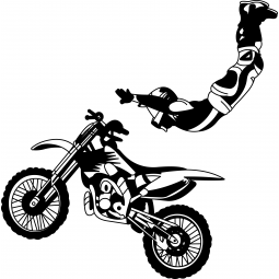 Sticker motocross Le Rock...