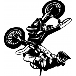 Sticker motocross Back flip...