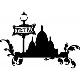 Sticker Métro Sacré Coeur