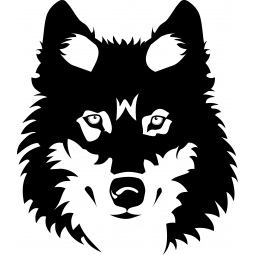Sticker portrait de loup