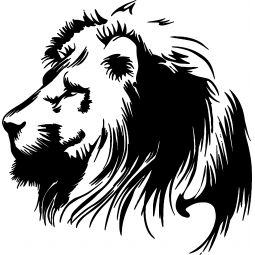 Sticker Lion de profil