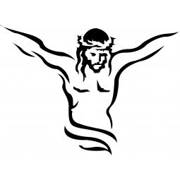Sticker Jésus en croix