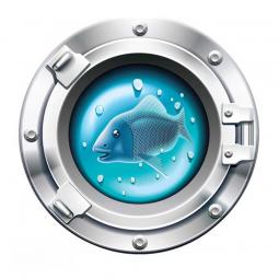 Sticker Hublot avec poisson