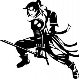 Sticker Samouraï au sabre