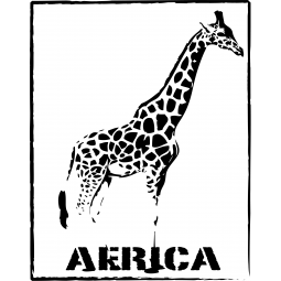 "Sticker Girafe ""Africa"""