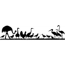Sticker Silhouettes d'oiseaux