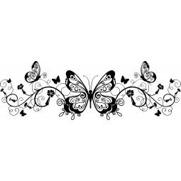 Sticker Frise papillons et...