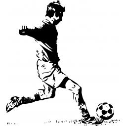 Sticker footballeur prêt à...