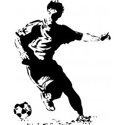 Sticker footballeur qui stoppe