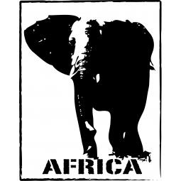 """Sticker Éléphant """"Africa"""""""