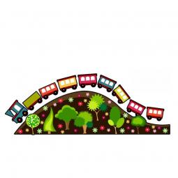 Sticker Train multicolore