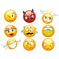 Stickers Emoticones avec...