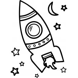 Sticker Fusée dans l'espace