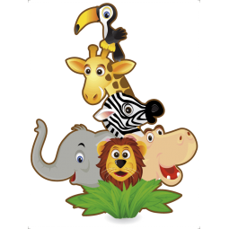 Sticker Jungle pyramide
