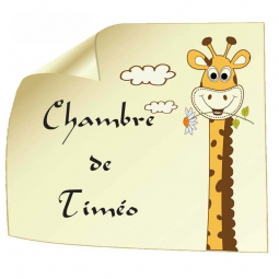 Sticker Affiche Girafe