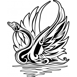 Sticker Cygne tribal