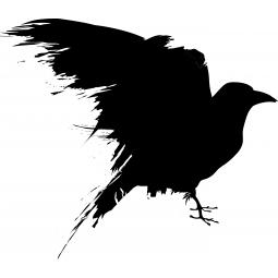Sticker corbeau ailes au vent
